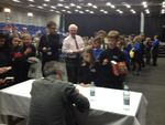Queue for signing: 300 books sold and signed
