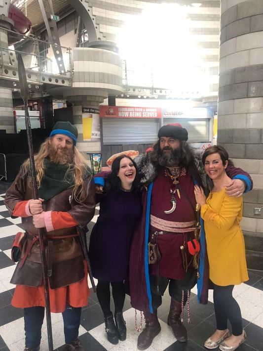 Janina and Liz with Vikings