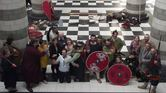 Jorfors Hall Viking re-enactment group with DBA Committee and Liz Million 1