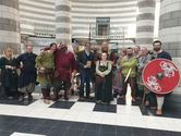 Jorfors Hall Viking re-enactment group with David Solomons 2