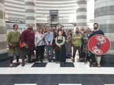 Jorfors Hall Viking re-enactment group with Waterstones Staff 1